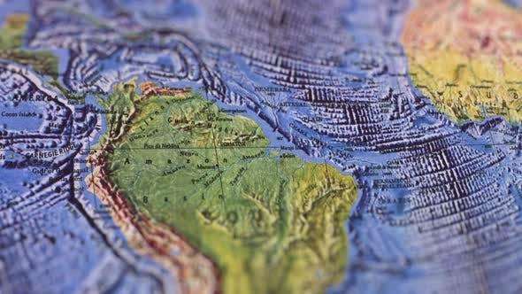 Thumbnail for South America Landscaped Paper Map, Slider Shot