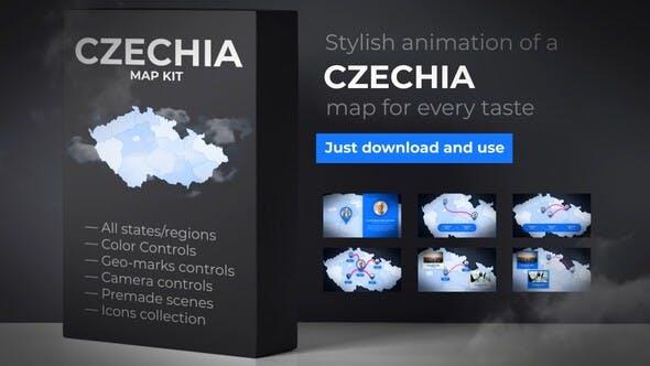 Thumbnail for Mapa de la República Checa - Kit de mapas de Chequia