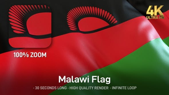 Thumbnail for Malawi Flags - 4K