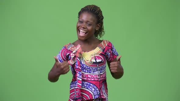 Thumbnail for Young African Woman Giving Thumbs Up