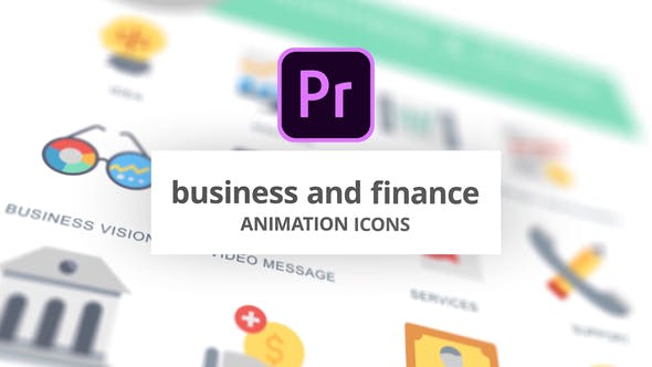 Business and Finance - Animation Icons (MOGRT)