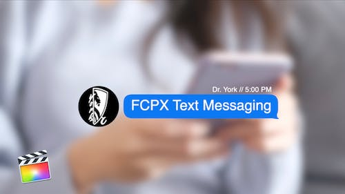 FCPX Text Messaging