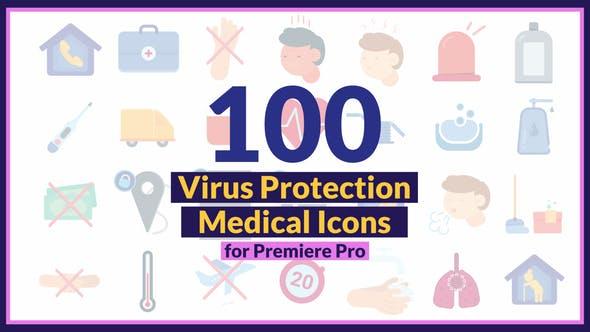 Corona Virus Medical Icons