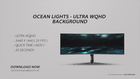 Thumbnail for Ocean Lights - Ultra WQHD Background