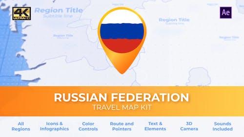 Reisekarte Russland - Russische Föderation Karte