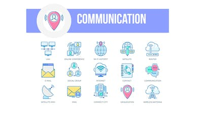 Communication - Filled Outline Animated Icons