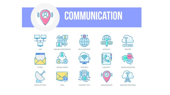 Thumbnail for Communication - Filled Outline Animated Icons
