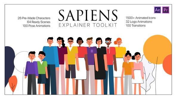 Thumbnail for Sapiens Explainer Toolkit AE & PR MOGRTs