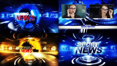 TV Broadcast News package
