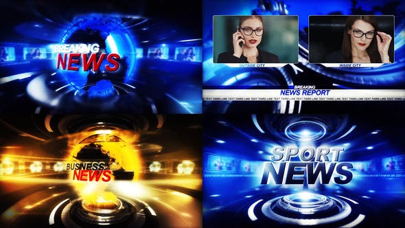 Cover Image for TV Broadcast News package