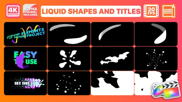 Thumbnail for Liquid Shapes And Titles | FCPX