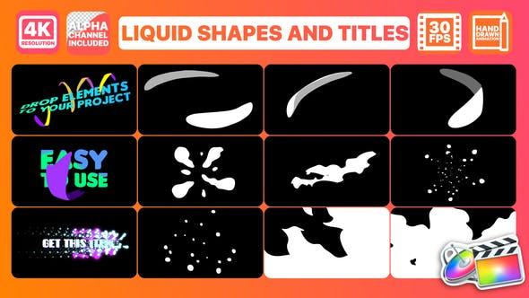 Thumbnail for Formes et titres liquides | FCPX