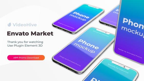 Phone App 11 Pro S20 Ultra App Promo Mockup