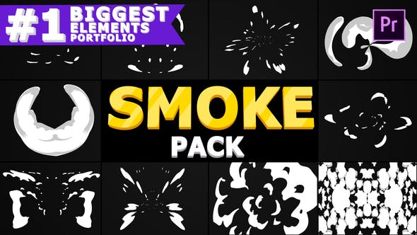 Thumbnail for Cartoon Smoke | Premiere Pro MOGRT