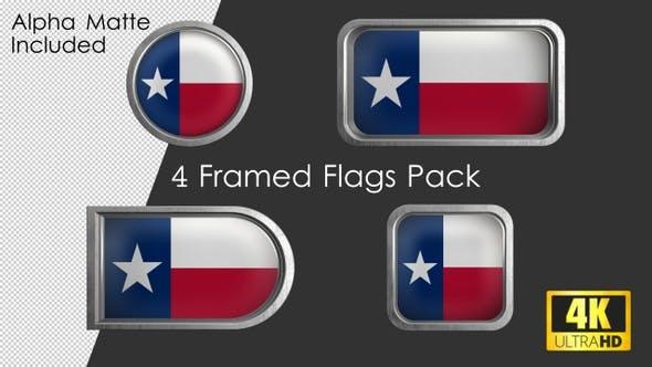 Thumbnail for Texas State Flag Framed