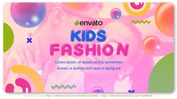 Thumbnail for Kids Fashion Slideshow