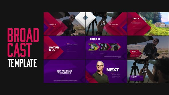 Broadcast TV Channel Idents