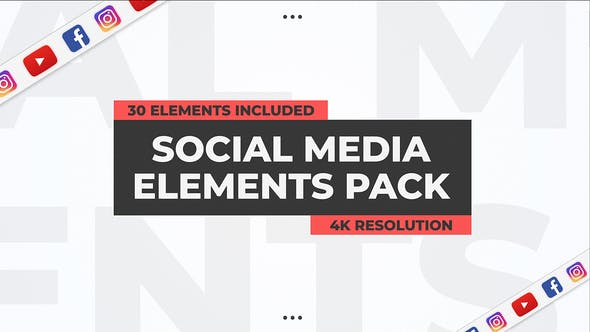 Thumbnail for Social Media Elements Pack - Premiere Pro