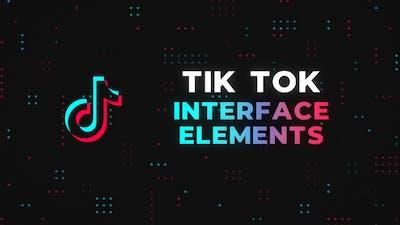 Tik Tok Interface Elements - Premiere Pro