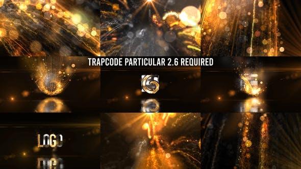 Thumbnail for Glowing Particals Logo Reveal 36 : Golden Particals 12