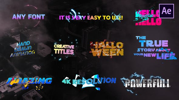 Thumbnail for Creative Colorful Titles | After Effects
