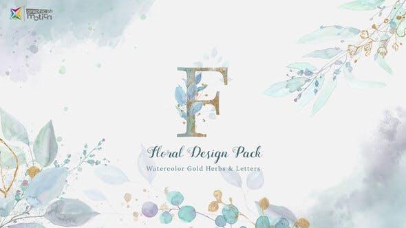 Pack Aquarelle Florale