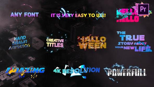 Thumbnail for Creative Colorful Titles   Premiere Pro MOGRT