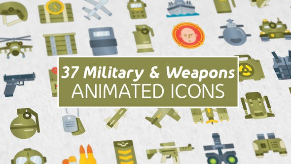 Thumbnail for 37 Military & Weapons Icons