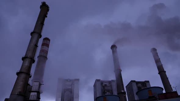 Thumbnail for Smoking Chimneys Of A Power Plant