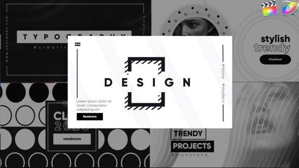 Thumbnail for Tipografía-Final Cut Pro monocromo