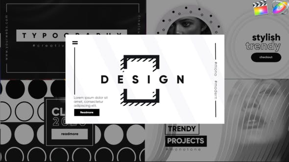 Thumbnail for Monochrome Typographie-Final Cut Pro