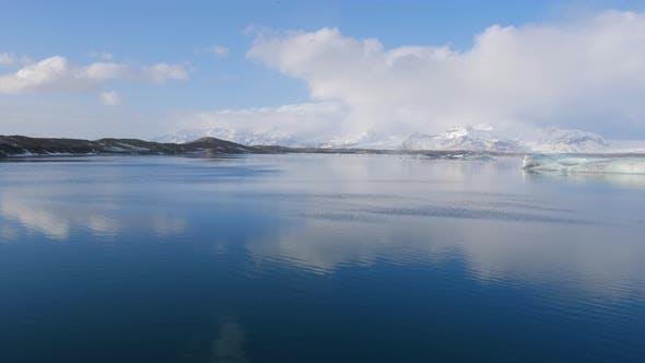 Thumbnail for Glacier Lagoon In Winter Iceland