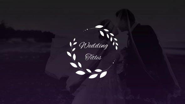Thumbnail for Elegant Wedding Titles