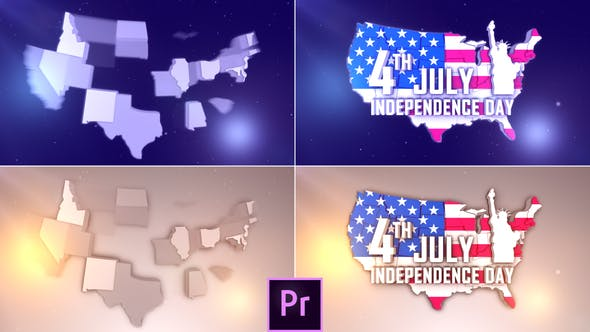Thumbnail for USA Patriotic Logo - Premiere Pro