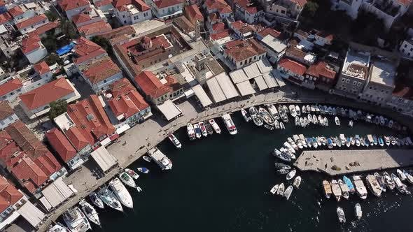 Thumbnail for Aerial View of Hydra Island and Marina, Greece in the Summer