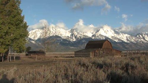 Geschichte in der Herbstranch Ranching Old Historic Moulton Scheune im Grand Teton National Park Wyoming