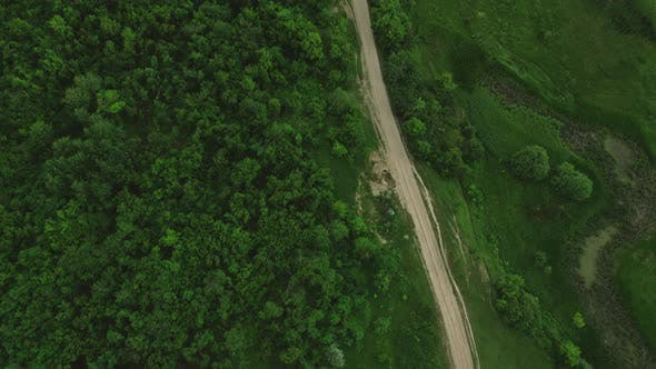 Cover Image for View From Above The Road Near The Forest