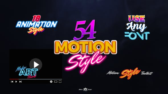 Thumbnail for Motion Styles Toolkit | Text Effects & Animations
