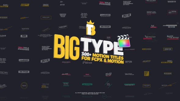 Thumbnail for Big Type | 300 titles for FCPX