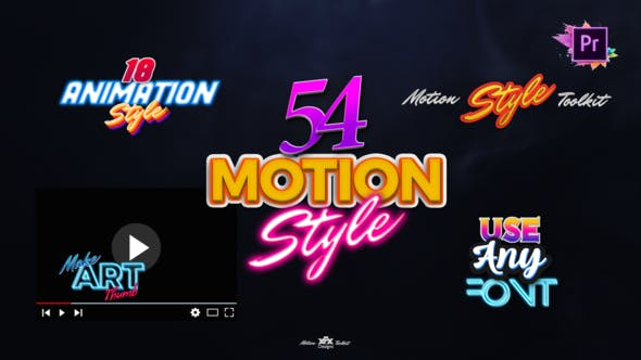 Thumbnail for Motion Styles Toolkit | Text Effects & Animations For Premiere Pro Mogrt