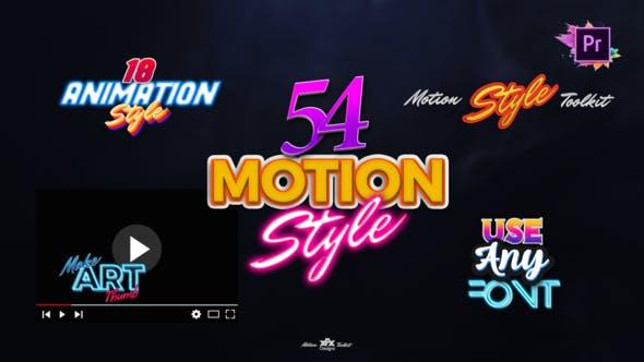 Thumbnail for Набор инструментов Стили движения | Текстовые эффекты и анимация для Premiere Pro Mogrt