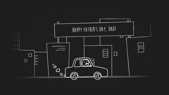 Vatertag Doodle