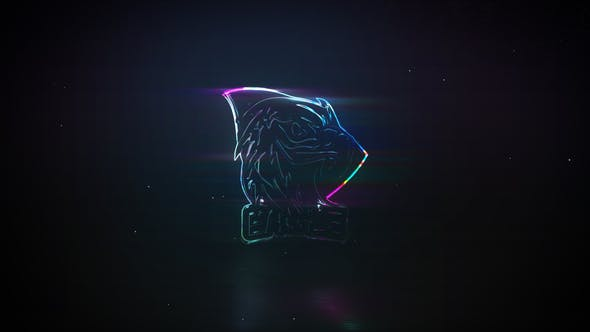 Thumbnail for Neon Glass | Glitch Logo Reveal
