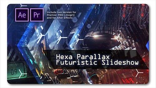 Hexa Parallax | Futuristische Diashow