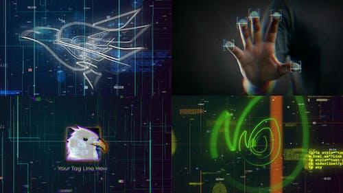 Scan Fingerprint Biometrics Logo Reveal