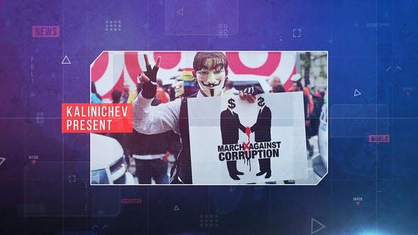Thumbnail for Abridor de noticias políticas - Premiere Pro
