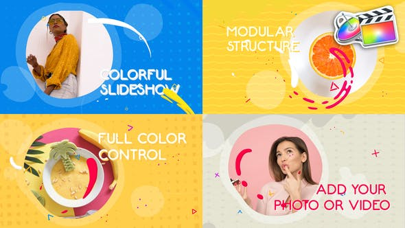 Thumbnail for Colorful Liquid Slideshow | FCPX