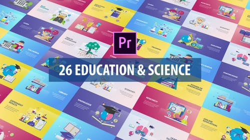 Education and Science Animation | Premiere Pro MOGRT