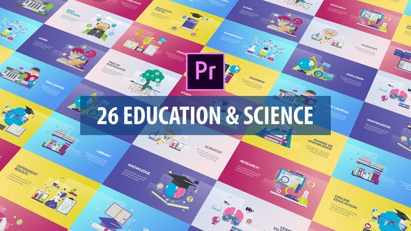 Thumbnail for Education and Science Animation | Premiere Pro MOGRT