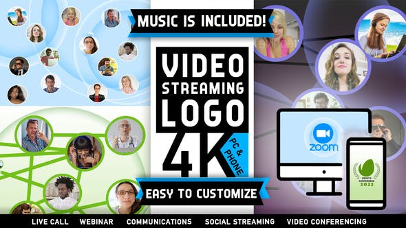 Video Call Live Conference Logo